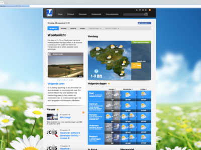 Website van Meteo